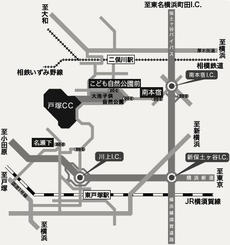 倶楽部周辺マップ